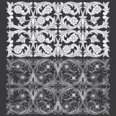 Photo Tropical Floral Carving Pattern.