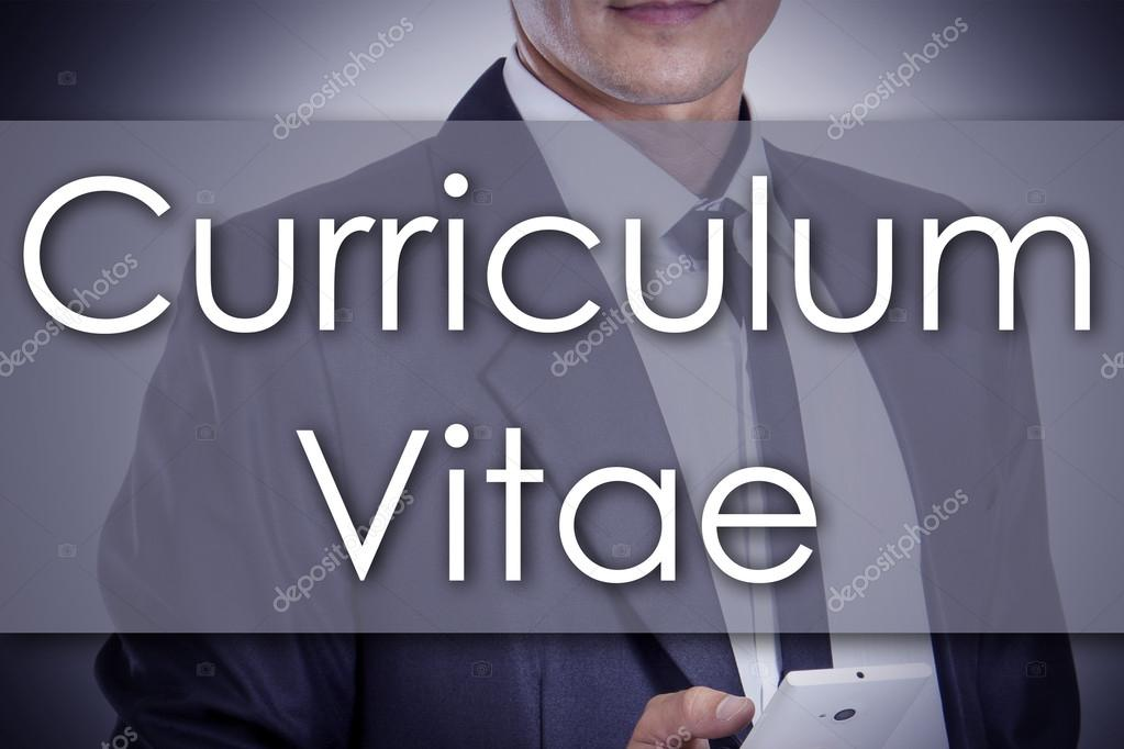 Curriculum Vitae - joven empresario con texto - concepto de negocio ...