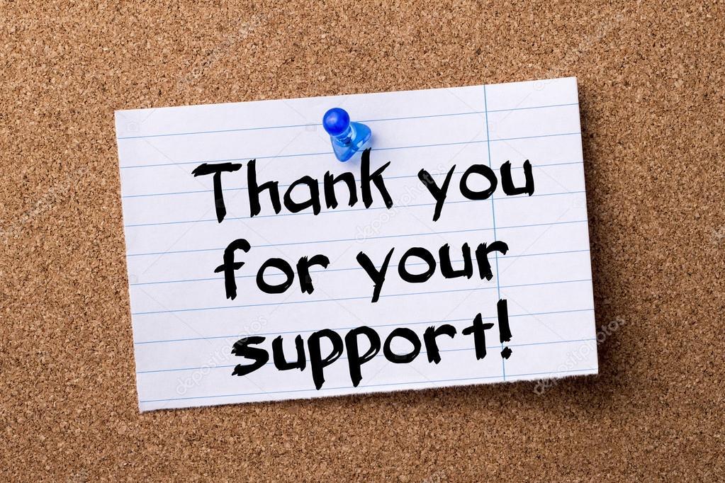 Je vous remercie pour votre soutien !  Remarque déchiré papier