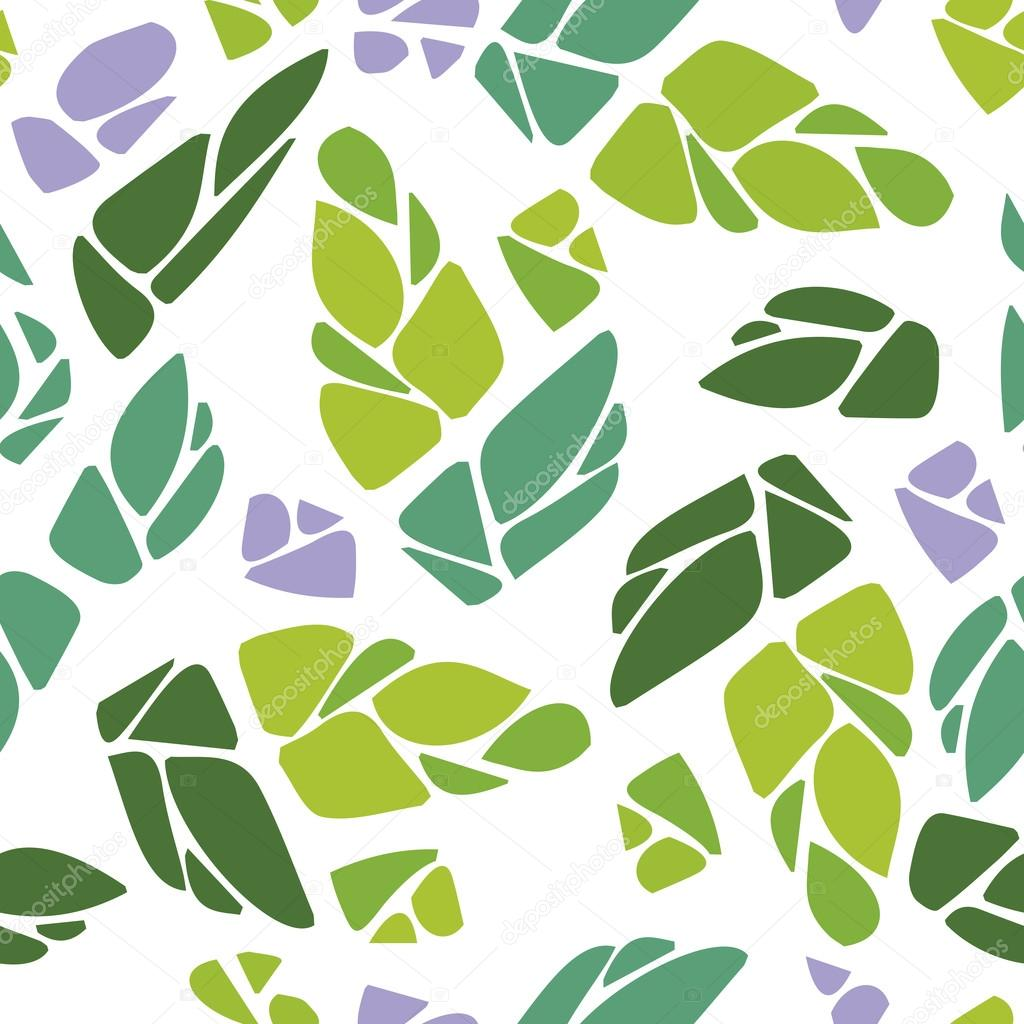 Seamless pattern with cones of hops
