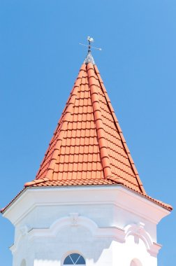 weather vane on roof