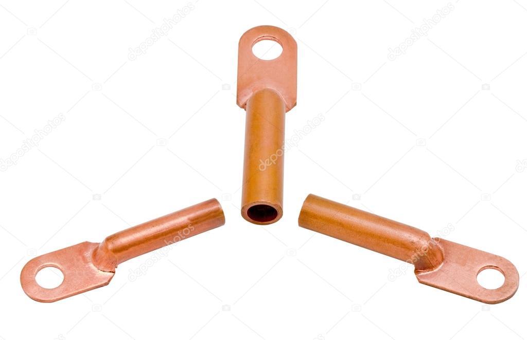 Kupfer elektrische Klemmen — Stockfoto © vega_240 #86692952
