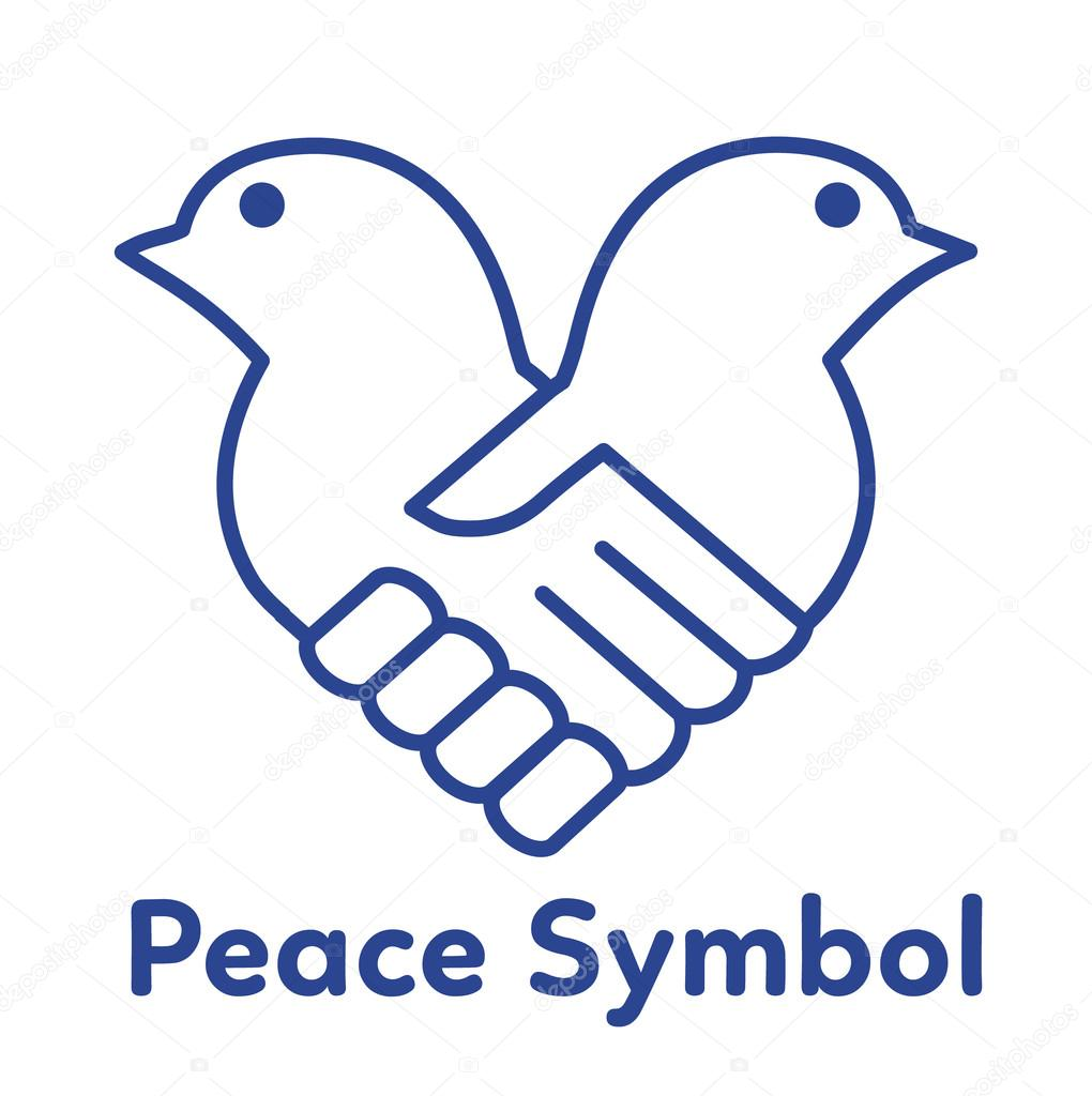 Peace Symbol Vector Illustrationace Dove Handshake Concept
