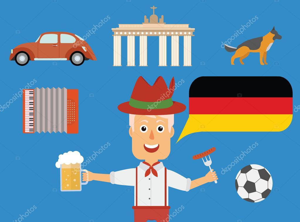 Deutsche Reise Konzept Deutschen Traditionen Und Kultur
