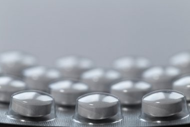 Painkillers tablets close