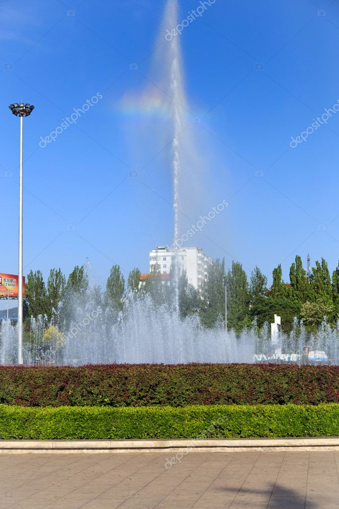 Music fountain plaza