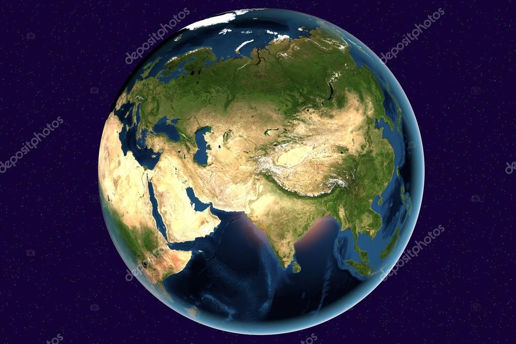 de aarde vanuit de ruimte — stockfoto © katerynakon #78118540