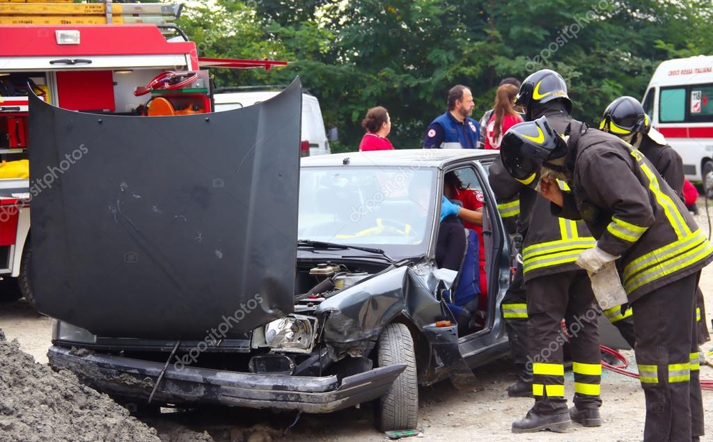 Rescue simulation of accident. – Stock Editorial Photo © EurekA_89 ...