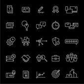 Symbole für Landing Pages und Online-Shops. weiß.