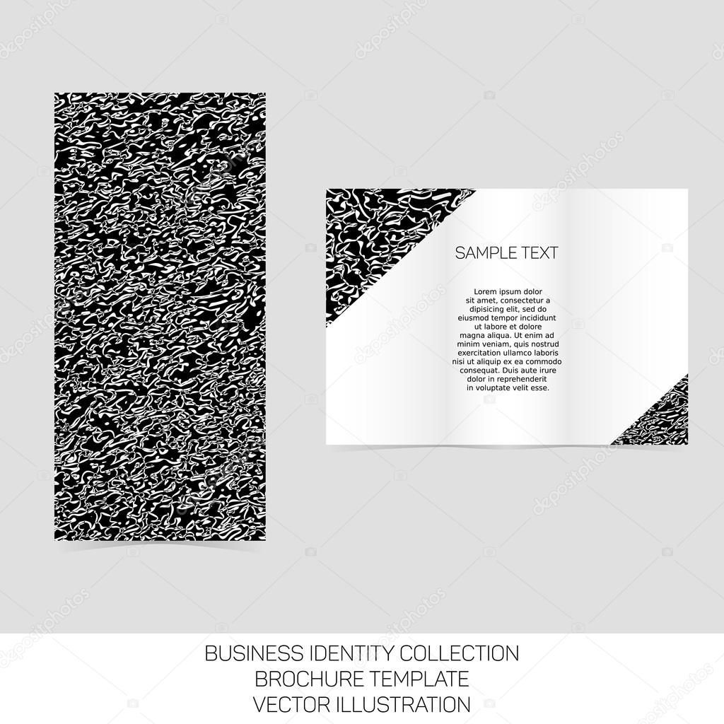 Business Identity Collection Black And White Chaos Tri Fold