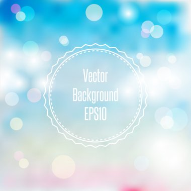 Blurred spring or summer abstract background in light pastel colors with bokeh copyspace for your text.