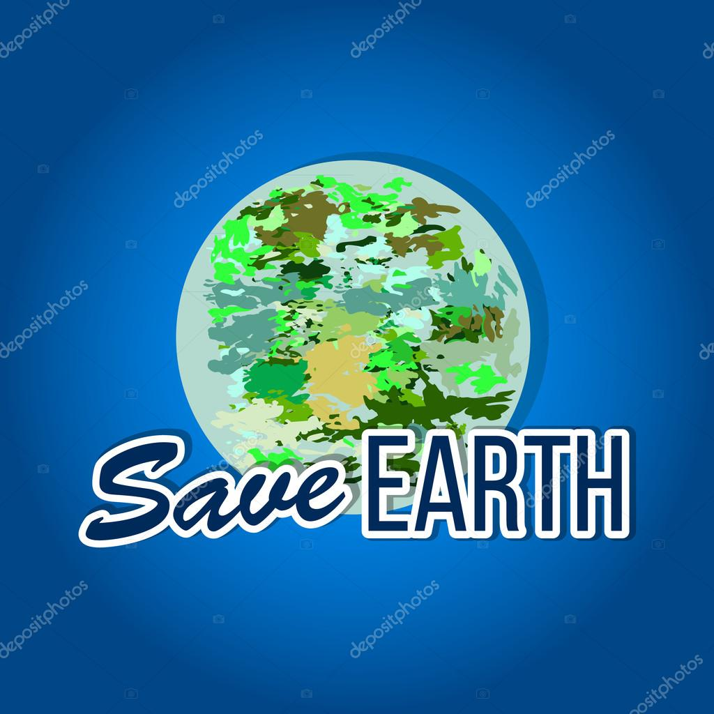 It is vector illustration . Suitable for Earth Day and Earth hour holidays