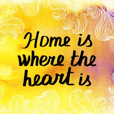 Home, heart  Hand Drawn Lettering