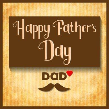 Happy Fathers Day celebration card