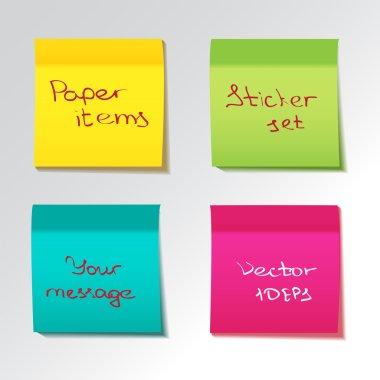 Colorful Sticky notes set