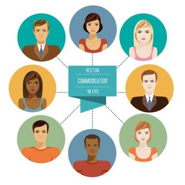 social network  avatar symbols.