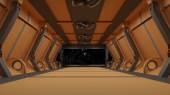 Fotografie Futuristic interior corridor stage.3D rendering