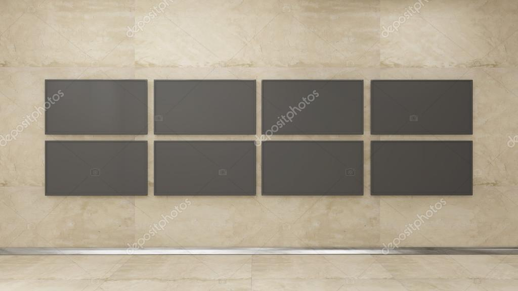 TV display in wall