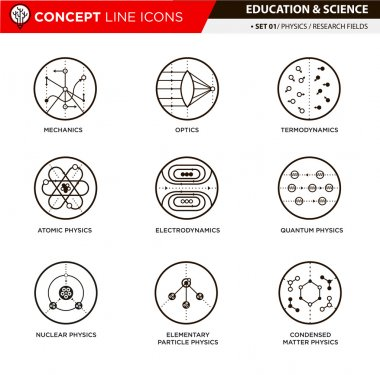 Concept Line Icons Physics