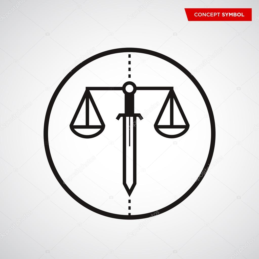 Scale Of Justice Symbol Stock Vector Turbodesign 120123004