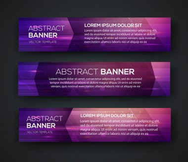 Abstract Banners. Vector Eps10 Backgrounds.