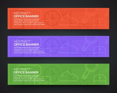 Banner office theme.