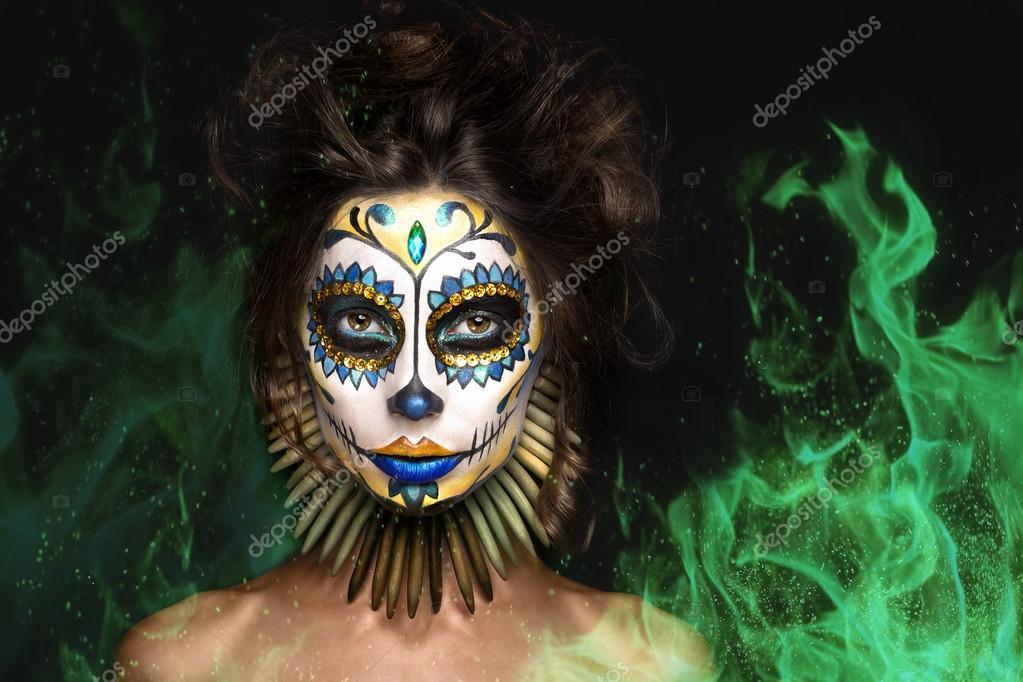 Mexická dívka kouření