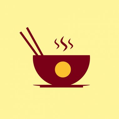 Fast food vector icon. Chinese food pictogram.