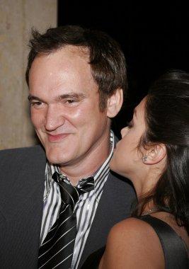Quentin Tarantino and Vanessa Ferlito