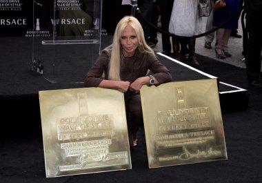 designer Donatella Versace