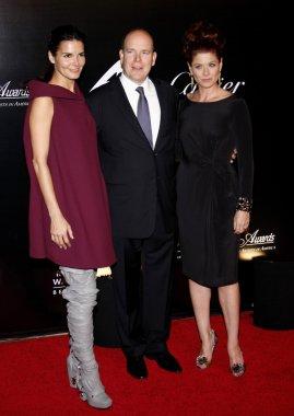 Angie Harmon, Prince Albert II of Monaco and Debra Messing