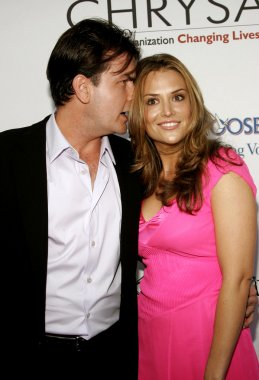 Charlie Sheen and Brooke Wolofsky