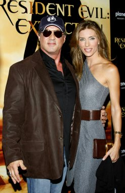 Sylvester Stallone and Jennifer Flavin at Las Vegas