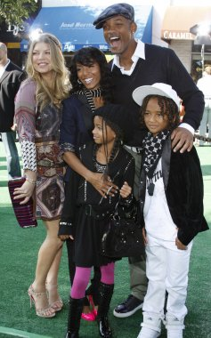 Fergie and Will Smith with family