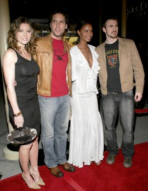 Chris Evans, Dane Cook, Jessica Biel and Joy Bryant
