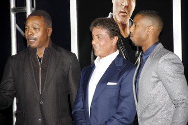 Michael B. Jordan, Sylvester Stallone and Carl Weathers
