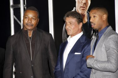 Sylvester Stallone and Carl Weathers