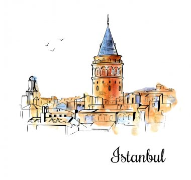 Galata tower in Turkey