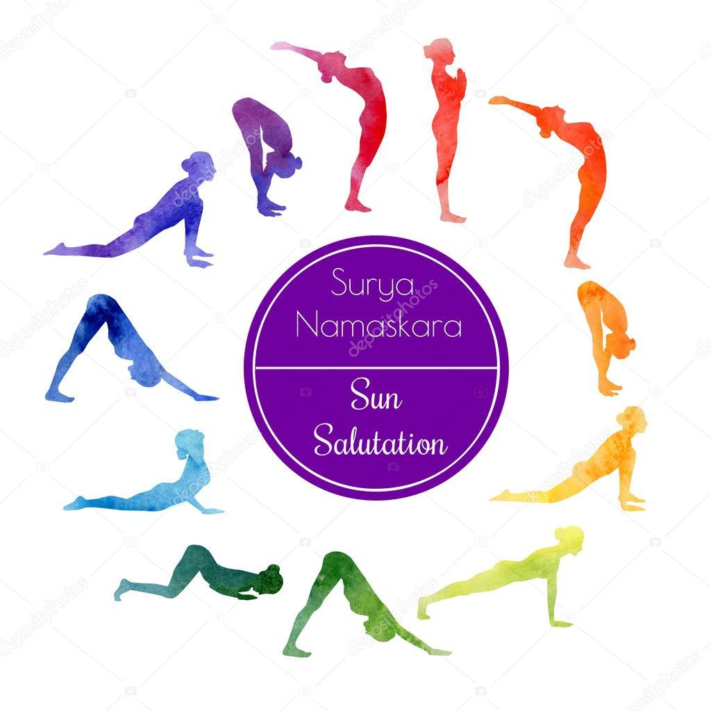 50 Sun salutation Vector Images, Sun salutation Illustrations ...