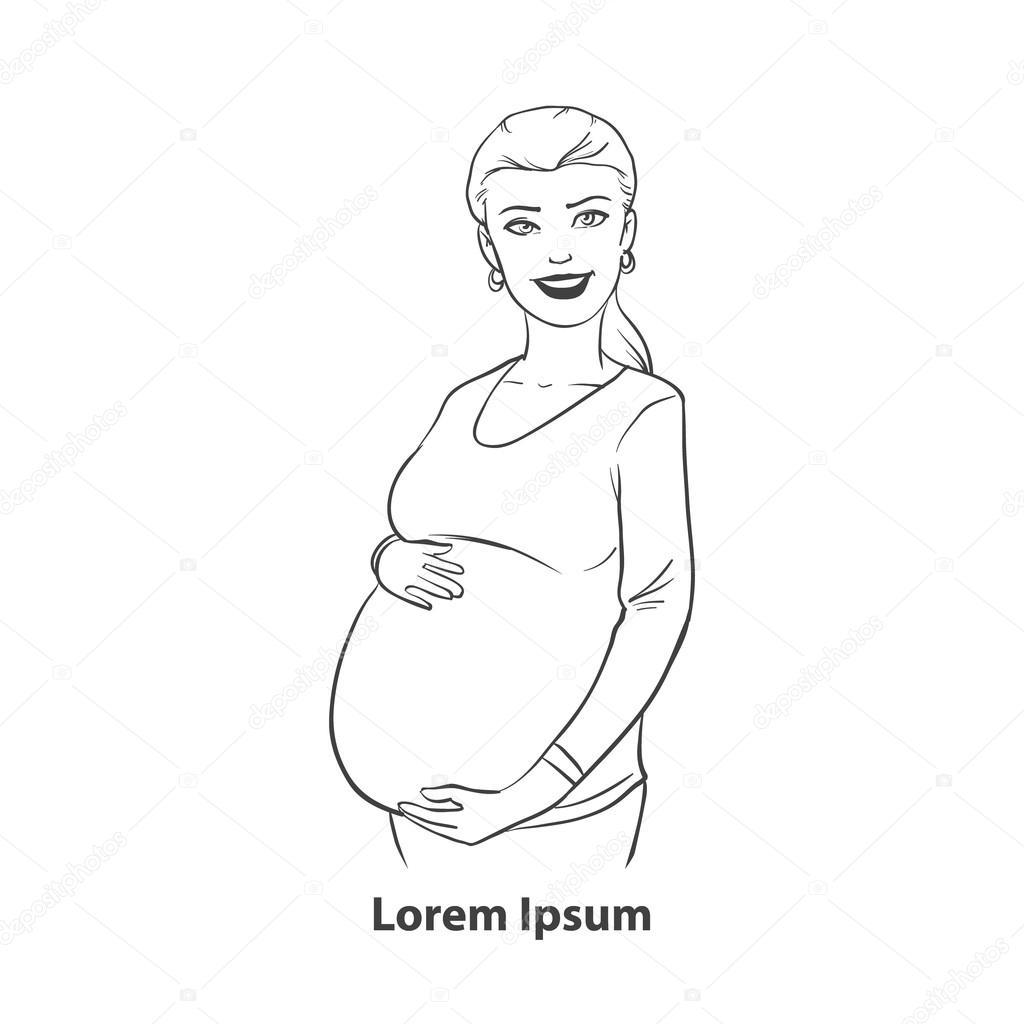 Imágenes Una Señora Embarazada Para Colorear Logo De La Mujer