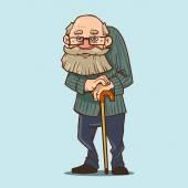 Karikatur eines alten Mannes
