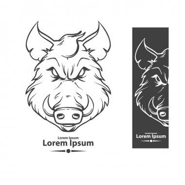 boar angry logo