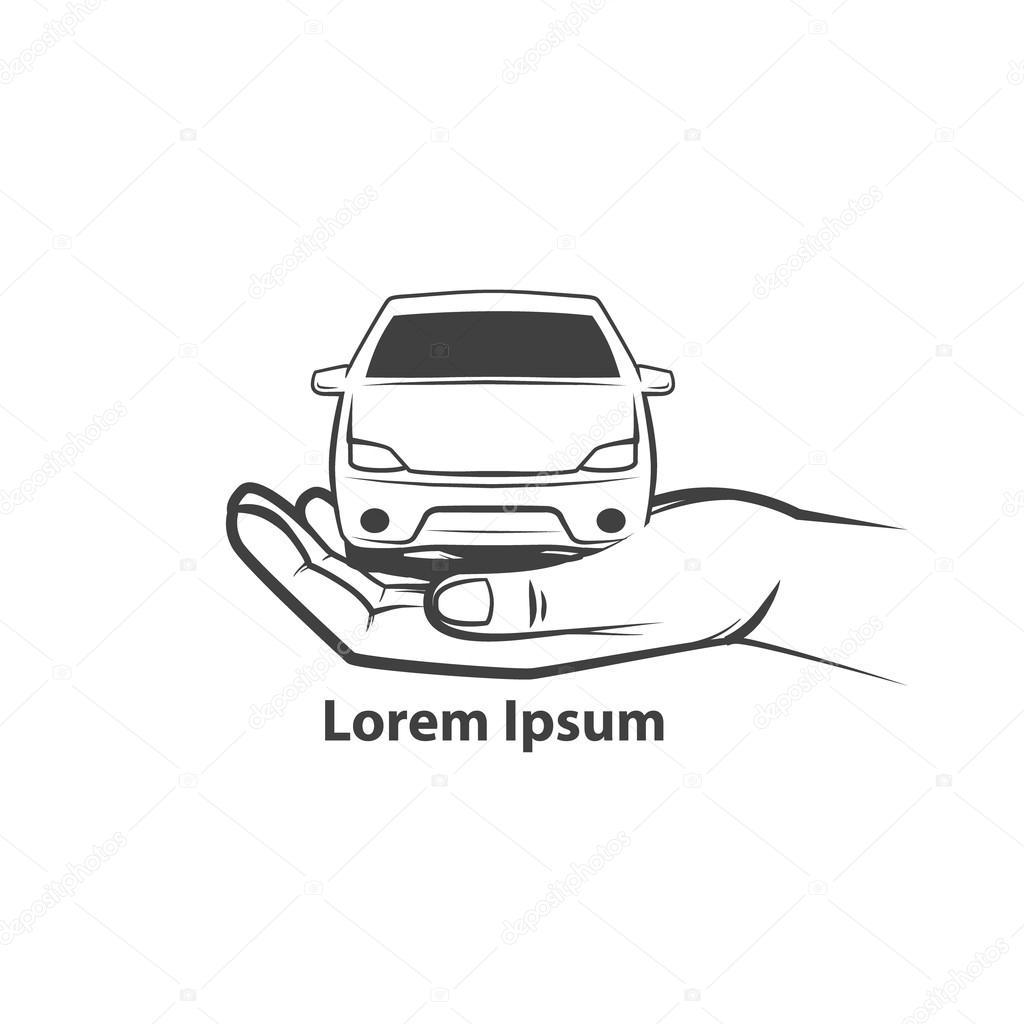 insignia del coche de alquiler — Archivo Imágenes Vectoriales ...
