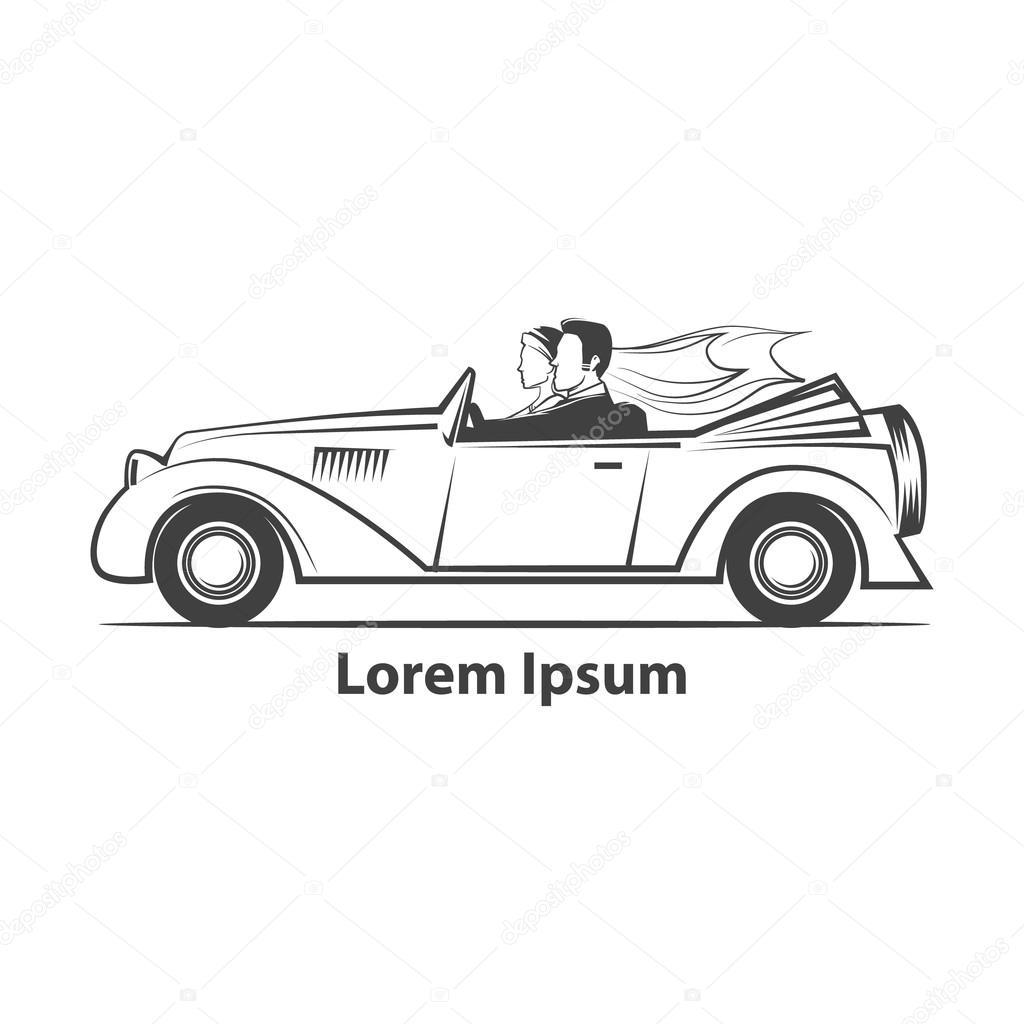 wedding car couple