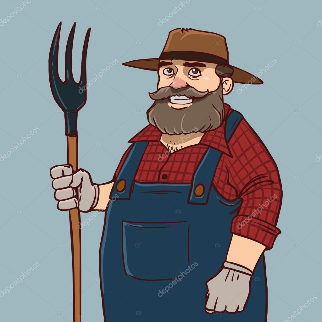 Farmer funny cartoon