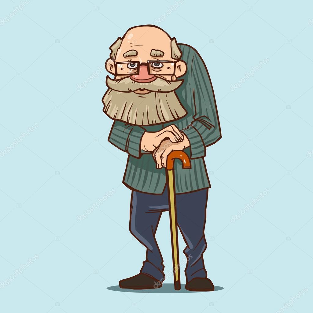 Рисунок прикольного старика