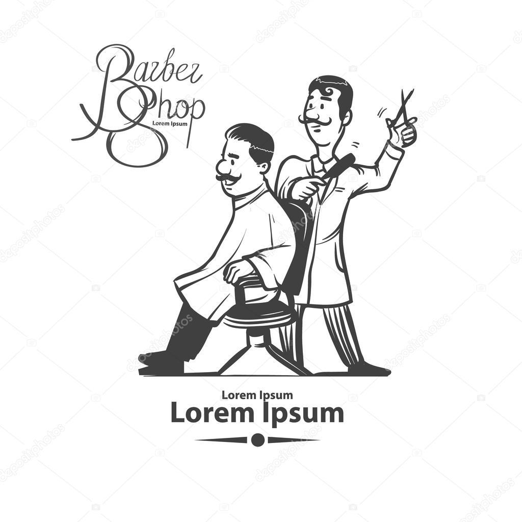 Imágenes Un Barbero Para Colorear Situación De La Tienda De