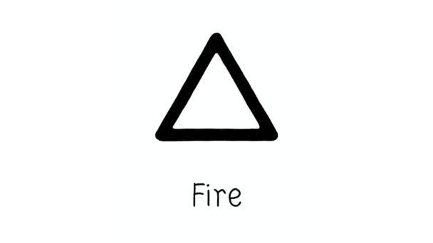 Tierkreiszeichen. Figuren 2D-Horoskop-Symbole, Tierkreiszeichen. Symbole für Feuer, Wasser, Erde, Luft. Zeichnungen der Tierkreiszeichen