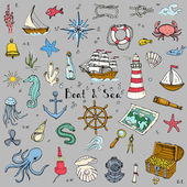 Boat and Sea set