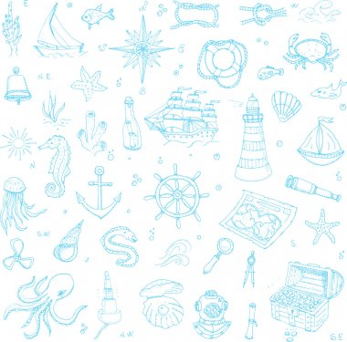 Boat and Sea icons set